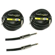 """(2) 14 Gauge 100' ft Speaker Cable 1/4"""" to 1/4"""" Premium Connectors Gold Contacts"""