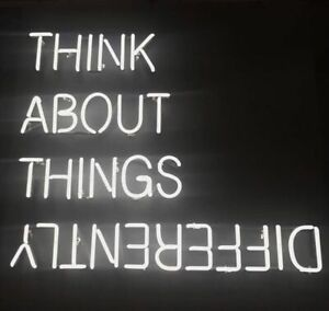 """24""""x20""""Think About Things Different Neon Sign Light Handcraft Artwork Nightlight"""