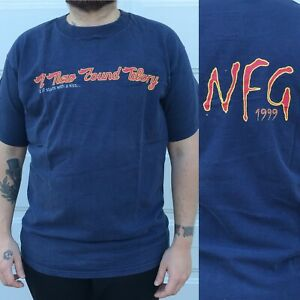 A New Found Glory Rare 1999 Tour Navy Tshirt Tee Concert  Large Navy Blue NFG