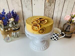 Fake Faux Artificial Cake Cupcake food Prop Kitchen Decor. Lovely Orange Cake.
