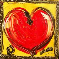 RED HEART 4 YOU  by Mark Kazav  Abstract Modern CANVAS Original Oil Painting