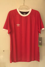 Umbro Soccer Shirt Jersey Red and White Size Men's Medium Nwt