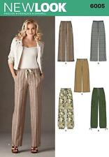 NEW LOOK SEWING PATTERN Misses' PULL ON TROUSERS WITH POCKETS SIZE 10 - 22 6005