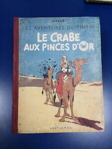 Tintin Le Crabe Aux Pinces D'Or A18 1942 Noir Et Blanc