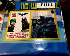 Lego Batman Full Sheet Set W/pillow Cases