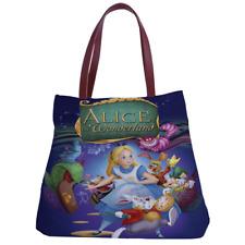 1 batch Alice nel paese delle meraviglie attraverso lo specchio oro corona Tote BAG SHOPPER