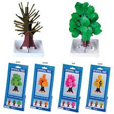 (set of 4) MYSTICAL TREE magic growing pink green yellow orange science kit toy