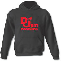 DEF JAM RECORDINGS Hip Hop Rap Urban Heavy Cotton Hoodie Sizes from Small to XXL
