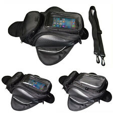 Motorcycle Oil Fuel Tank Bag Motorbike Travel Pouch Navigator Black Universal