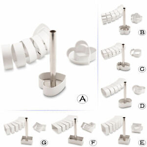 11-in-1 Mini Cake Cookie Biscuit Mold Set - 10PC Cutter Mold + 1PC Press