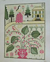 Handpainted Needlepoint Canvas Ewe & Eye Sampler Lila's House EWE-239