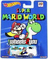 VOLKSWAGEN T1 PANEL BUS - Super Mario World - Hot Wheels Pop Culture REAL RIDERS