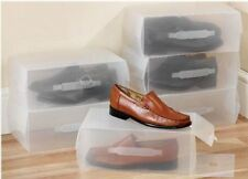 New Home Plastic Clear Shoe Boot 10 Pcs Box Stackable Foldable Storage Organizer