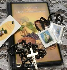 My First Holy Communion Mass/Prayer Book, Rosary, Scapular, Pin. Ships Free, NEW