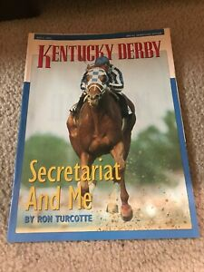 """Sports Illustrated Insert KENTUCKY DERBY """"SECRETARIAT & ME"""" BY RON TURCOTTE RARE"""
