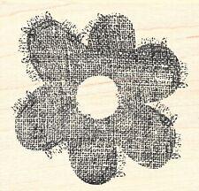 Inkadinkado ~ LARGE FLOWER ~ Wood Mounted Rubber Stamp Garden Nature Spring
