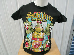 VINTAGE SUBLIME SMALL T-SHIRT LONG BEACH CALIFORNIA 40oz LOGO PREOWNED