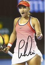 TENNIS: LAUREN DAVIS SIGNED 6x4 ACTION PHOTO+COA *WIMBLEDON* *PROOF*