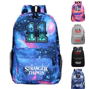 Girls Stranger11 Backpack School Book Bag Student Daily Rucksack Travel Knapsack