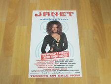 Janet JACKSON the Velvet Rope Tour WEMBLEY Arena Original Concert / Show Poster