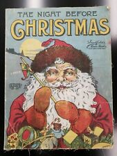 New listing Antique The Night Before Christmas 1913 Saalfield's Linen Books New York Rare