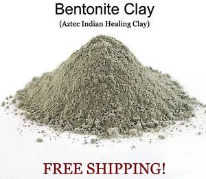 Bentonite Montmorillonite Calcium Aztec Indian Healing Clay Powder 100% Pure