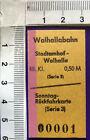 Alte Edmonsonsche Fahrkarte als Reprint Walhallabahn Stadtamhof - Walhalla Ser 3
