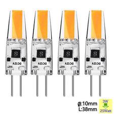 4pcs G4 3W COB LED Bulbs /DC 12V Warm White Lamp Silicon Spotlight SU133