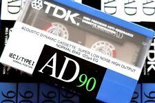 TDK AD 90 PREMIUM NORMAL POSITION TYPE I BLANK AUDIO CASSETTE - JAPAN 1988