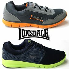 Lonsdale Southwick & Sivas Trainers Mens Fitness Running Shoes Neon
