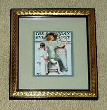"Norman Rockwell Matted Print Going Out ~ Framed Size 10.5""x9.5"""