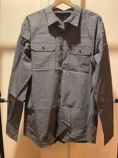 NWT SEAN JOHN Men's Tailored Fit Gray/Black L/S Button Down Shirt