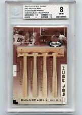 2002 FLEER BOX SCORE #4 BONDS BERKMAN A-ROD NOMAR BAT RACK QUADS #14/150 - BGS 8