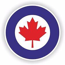 1x Royal Canada Air Force Sticker Roundel RCAF Bumper Door Laptop Helmet Tablet