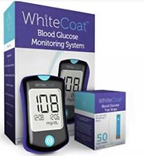 White Coat Blood Glucose Diabetes Monitoring System With 50 Strips