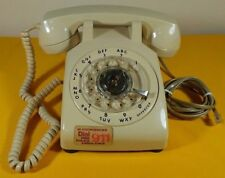 Vintage WHITE Rotary Bell Telephone Dial Phone ~ RETRO ~ UNTESTED