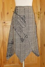 CRIMINAL charcoal black grey light beige WOOL asymmetric STEAMPUNK fairy  30 14