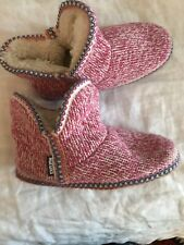 5bc7879120beb Muk Luks Womens Amira Cable Knit Bootie Slippers House Shoes