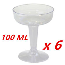 100ml CLEAR DISPOSABLE PARTY PLASTIC CLEAR COCKTAIL MARTINI GLASS CUPS EVENT