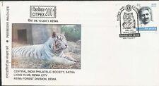 White Tiger Rewa 2001 India Wild Animals mammals big cats special cover