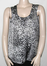 NWT Elementz Sleeveless Pleated Print Tank Top AMINA/XL