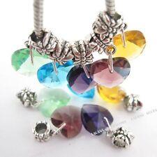 50pcs European Beads Herz Form Strass Kristall Facettiert Perlen Mix 150614