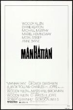 MANHATTAN - 1979 - orig 27x41 movie poster - Style A - WOODY ALLEN. MERYL STREEP