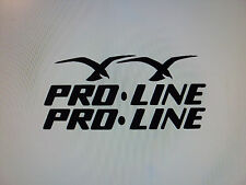 2 black PROLINE BOAT DECALS Huge 50 inch set  Marine Vinyl set   pro line decals
