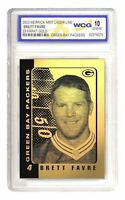 2003 BRETT FAVRE 23K GOLD CARD GREEN BAY PACKERS 4 GRADED 10