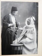Victorian ATELIER REISER PHOTOGRAPH Egyptian DOUBLE PORTRAIT Orientalist Cairo
