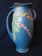 BULBOUS VASE! Vintage ROSEVILLE ART pottery original  BLEEDING HEART pattern EXC