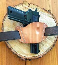 "1911 RH Minimalist Ultra-slim Leather 1 ½"" Belt Handgun Holster"