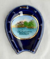 Antique Blue WillowPond East Ave Rochester New York Souvenir Spoon Rest Germany