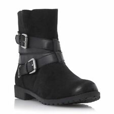 Dune Block Synthetic Leather Boots for Women